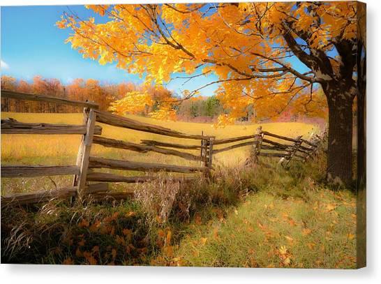 An Ideal Autumn Canvas Print
