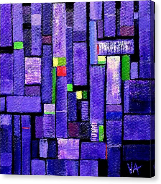 Canvas Print featuring the painting An Iris For The Master by VIVA Anderson