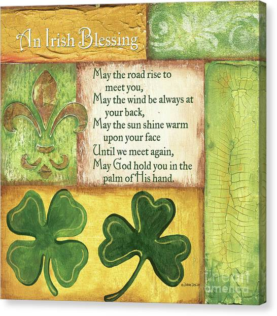 Design Canvas Print - An Irish Blessing by Debbie DeWitt