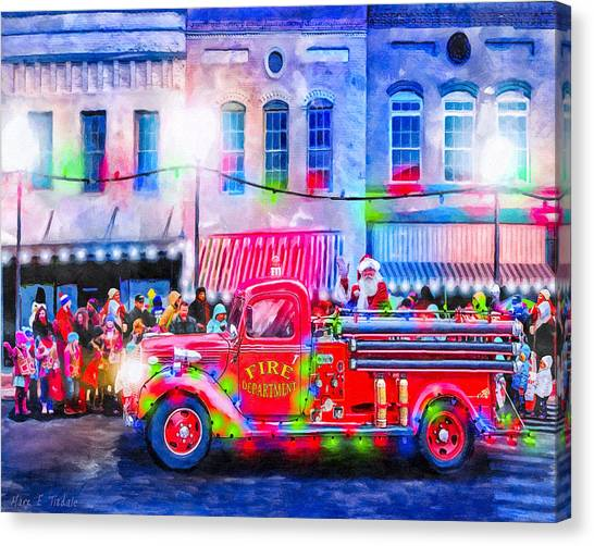 Santa Claus Canvas Print - An Old Fashioned Christmas by Mark Tisdale