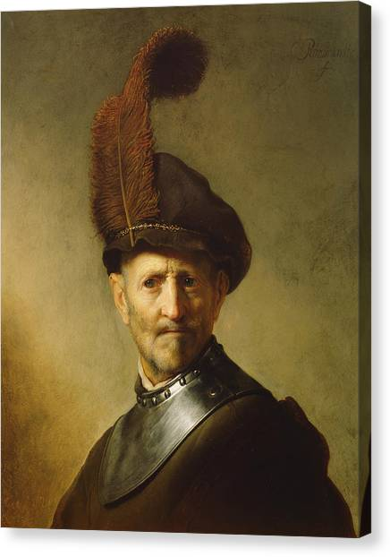 Baroque Art Canvas Print - An Old Man In Military Costume by Rembrandt