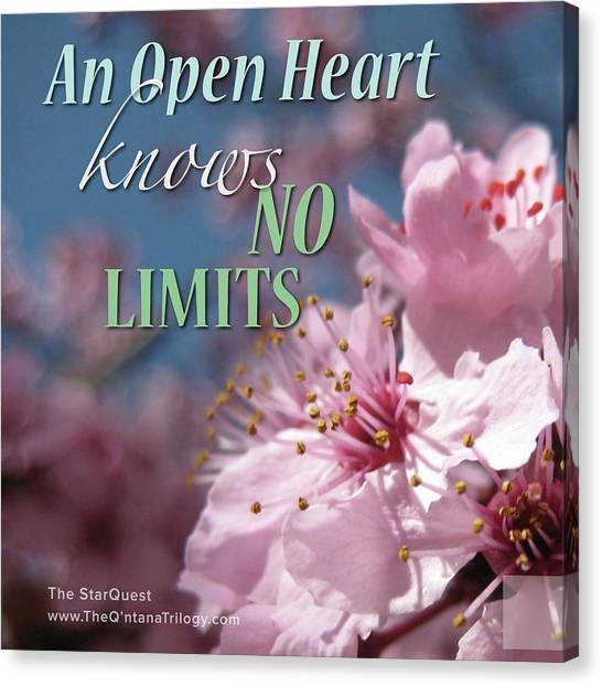 An Open Heart Knows No Limits Canvas Print