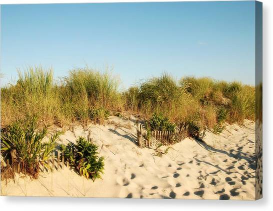An Opening In The Fence - Jersey Shore Canvas Print