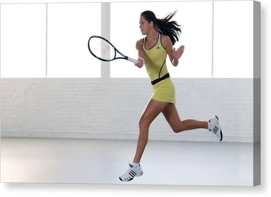 Tennis Players Canvas Print - Ana Ivanovic by Mariel Mcmeeking