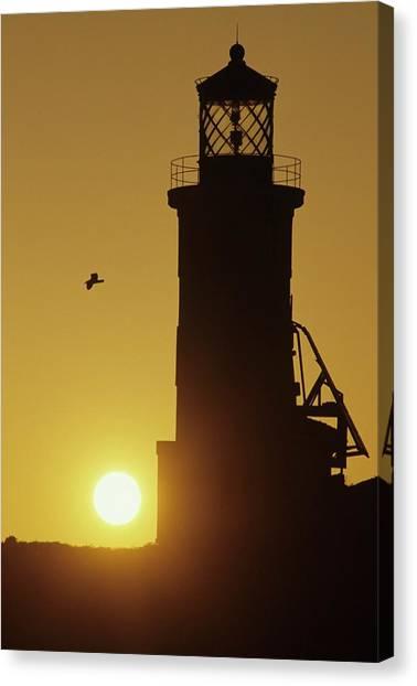 Anacapa Lighthouse And Sunrise Canvas Print