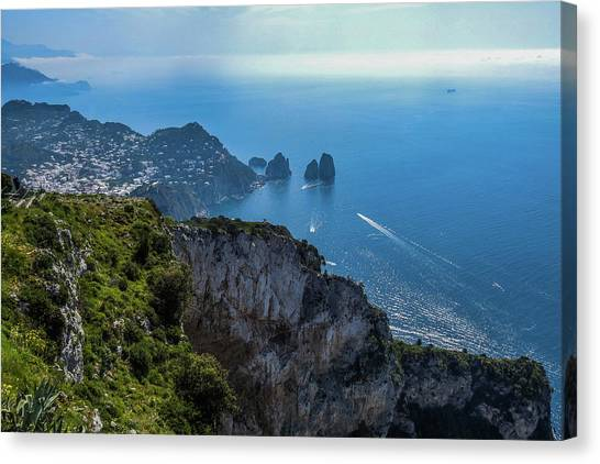 Anacapri On Isle Of Capri Canvas Print