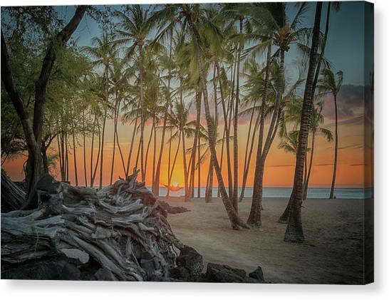 Anaehoomalu Beach Sunset Canvas Print