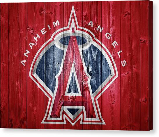 Los Angeles Angels Canvas Print - Anaheim Angels Barn Door by Dan Sproul