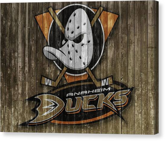 Anaheim Ducks Canvas Print - Anaheim Ducks Barn Door by Dan Sproul