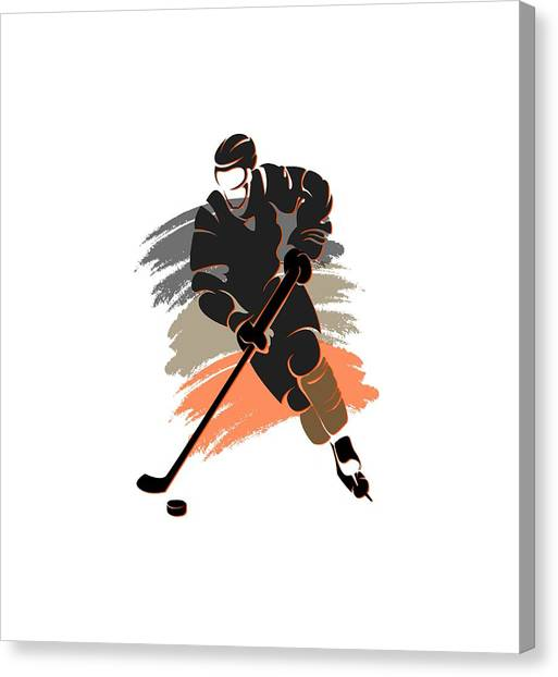 Anaheim Ducks Canvas Print - Anaheim Ducks Player Shirt by Joe Hamilton