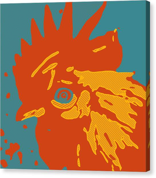 Analog Rooster Rocks Canvas Print