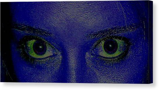Anatomy Of The Eyes Canvas Print by Debbie May
