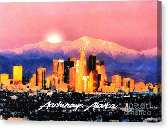 Anchorage - Bright-named Canvas Print