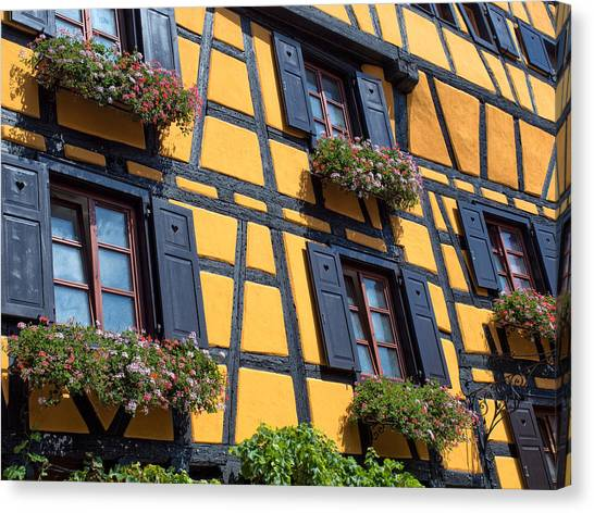Ancient Alsace Auberge Canvas Print