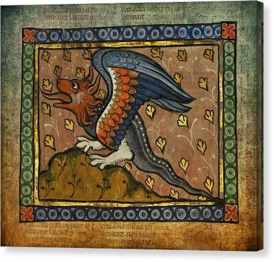 Rennaissance Art Canvas Print - Ancient Celtic Art Dragon by Terry Fleckney