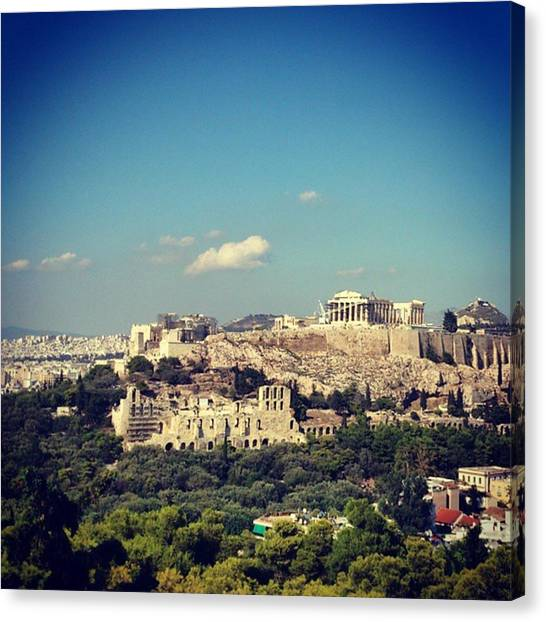 The Acropolis Canvas Print - #ancient #dreams The Classic Of by Matt Rivers