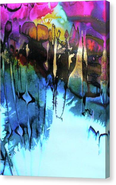 Lyrical Abstraction Canvas Print - Ancient Echoes by Mary Sullivan