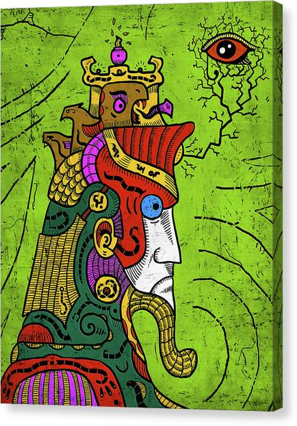 Canvas Print featuring the digital art Ancient Egypt Pharaoh by Sotuland Art