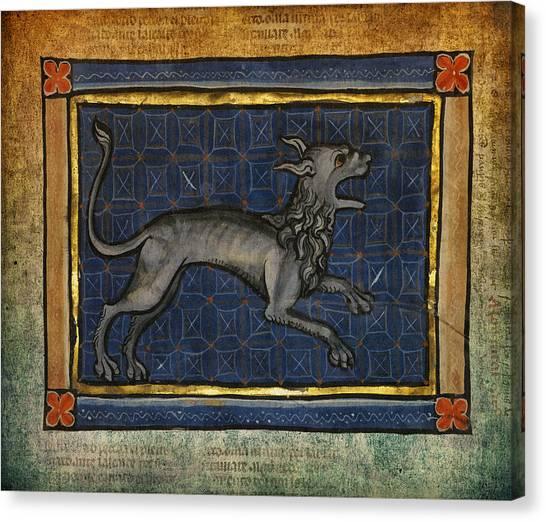 Rennaissance Art Canvas Print - Ancient Lion Celtic Art  by Terry Fleckney