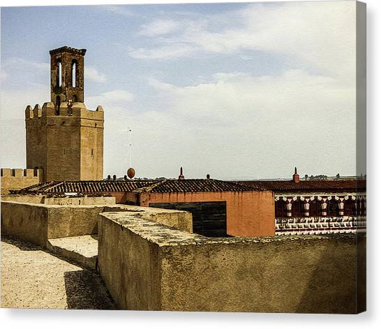 Ancient Moorish Citadel In Badajoz, Spain Canvas Print