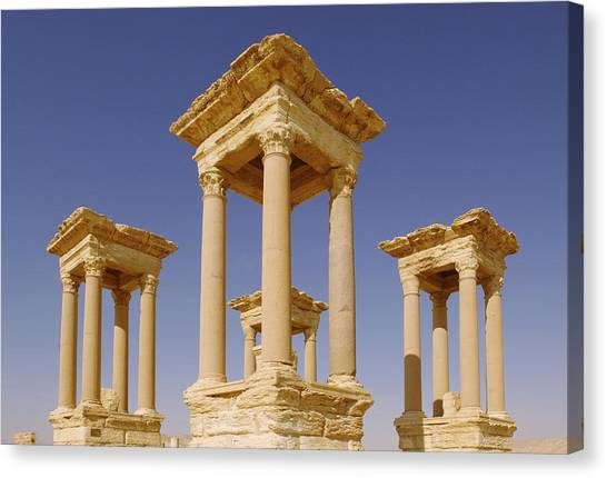 Syrian Canvas Print - Ancient Palmyra by Roman School