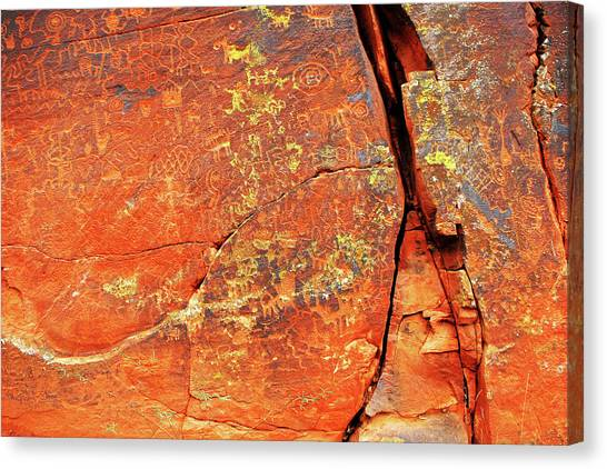 Ancient Scribeing Canvas Print