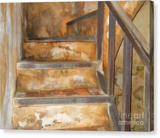 Ancient Stairway Canvas Print