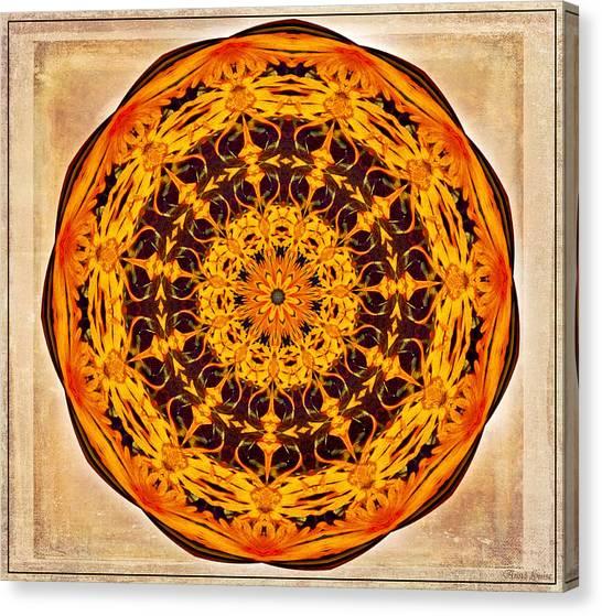 Ancient Sun Kaleidoscope Canvas Print
