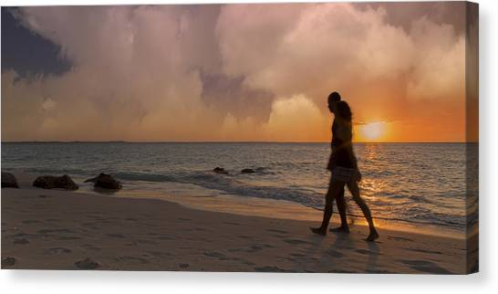 Ocean Sunsets Canvas Print - And Never Tear Us Apart by Betsy Knapp