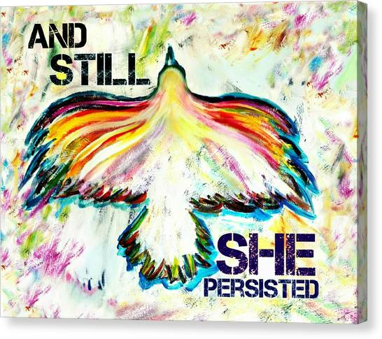 Elizabeth Warren Canvas Print - And Still She Persisted by Jill Jacobs