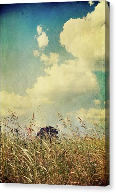 Clouds Canvas Print - And The Livin's Easy by Laurie Search