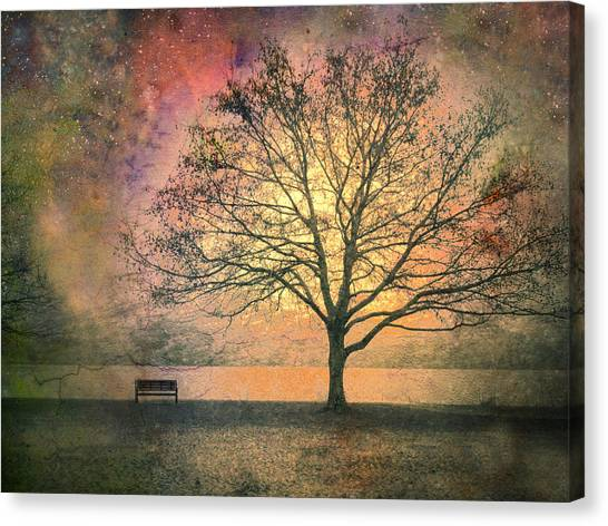 And The Morning Is Perfect In All Her Measured Wrinkles Canvas Print