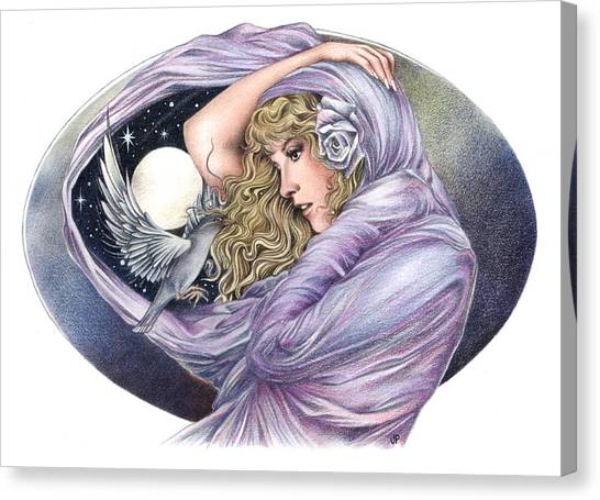 Stevie Nicks Canvas Print - And The Wind Became Crazy by Johanna Pieterman
