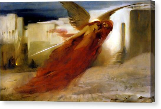 Passover Canvas Print - And There Was A Great Cry In Egypt by Arthur Hacker