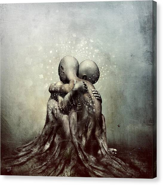 Meditate Canvas Print - And Though We Fade Away by Cameron Gray