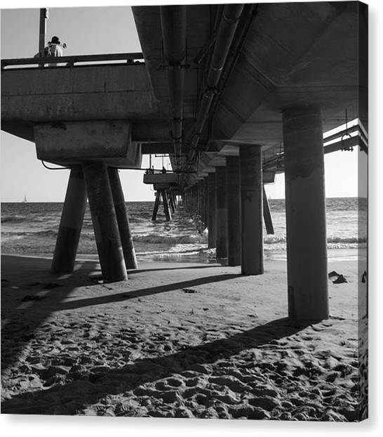 Venice Beach Canvas Print - And To End My Day At Venice Yesterday by Lexi Yoder