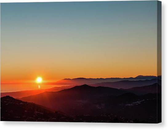 Andalucian Sunset Canvas Print