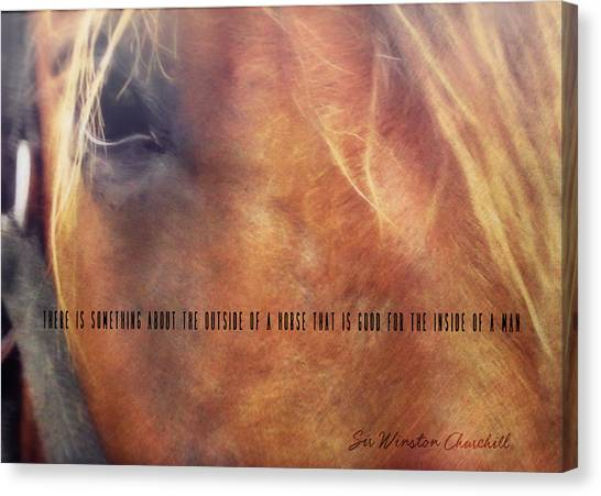 Andalusian Eye Quote Canvas Print