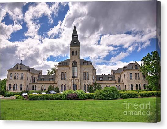 Kansas State University K-state Canvas Print - Anderson Hall In Spring by Jean Hutchison