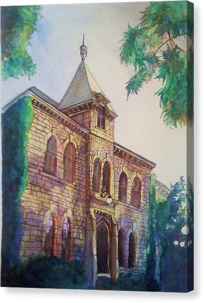 Kansas State University K-state Canvas Print - Anderson Hall by Julie Morrison