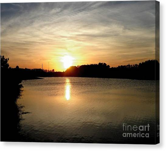 Anderson Stormwater Park In Rockledge Florida Canvas Print