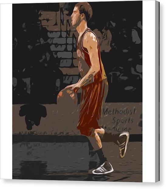 Basketball Canvas Print - @andersonuniversity #indiana #painting by David Haskett II
