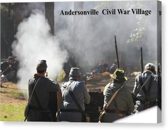 Andersonville Civil War Village Canvas Print