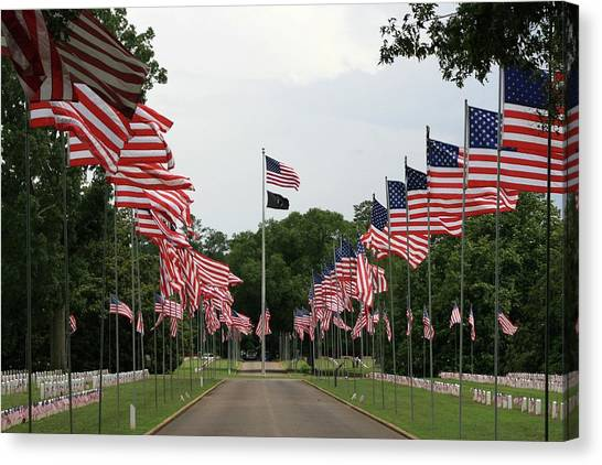 Andersonville National Cemetery Canvas Print