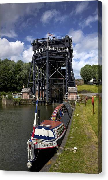 Saturn Canvas Print - Anderton Boatlift by Phil Tomlinson