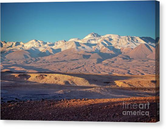 Andes Mountains Canvas Print - Andes Mountains At Sunset by Delphimages Photo Creations