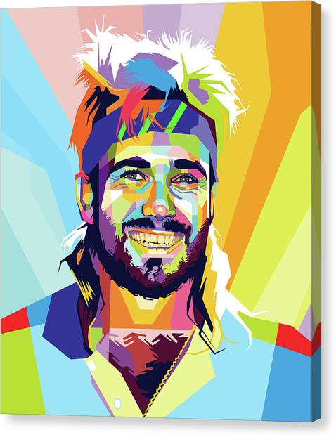 Andre Agassi Canvas Print - Andre Agassi by Andree Soka