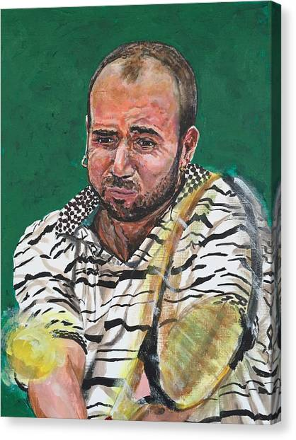 Andre Agassi Canvas Print - Andre Agassi by Joel Tesch