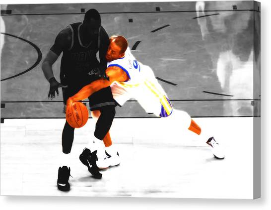 Dwight Howard Canvas Print - Andre Iguodala Gimme That by Brian Reaves