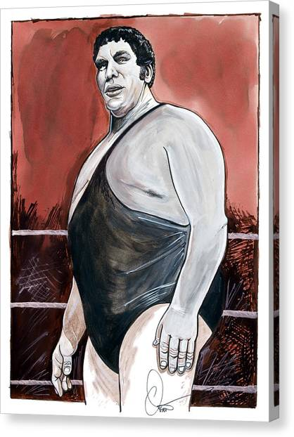 Wwe Canvas Print - Andre The Giant by Dave Olsen